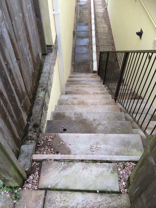 Stairs to be cleaned, Newton Abbot