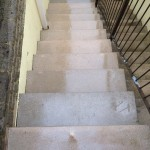 Pressure washed stairs