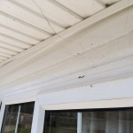 Chalet fascia board cleaning