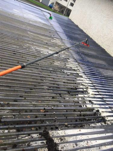 Flat roof cleaning service Newton Abbot
